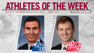 Shepard, Cawley Named WAC Swimming & Diving Athletes of the Week