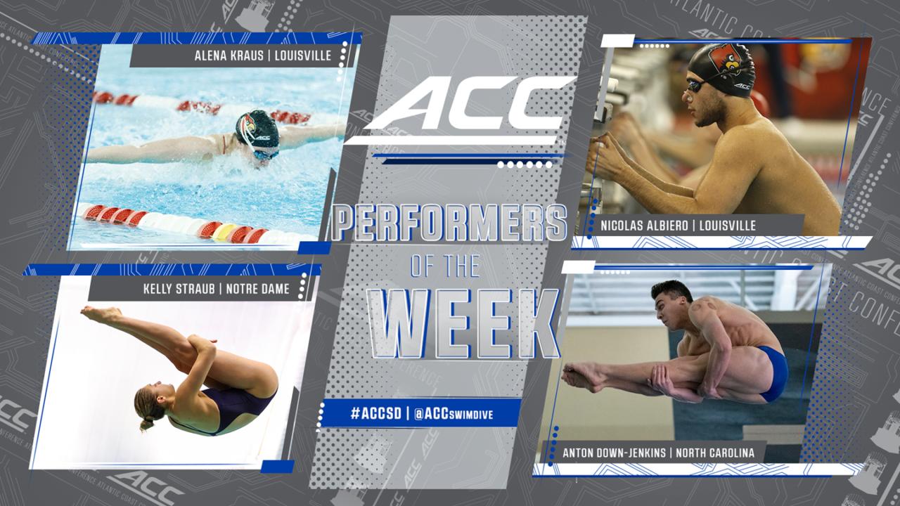 Louisville's Kraus, Albiero Named ACC Swimmers of the Week