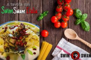 A Tavola Con SwimSwam Pappardelle Carciofi E Pancetta Di Massimo Meloni