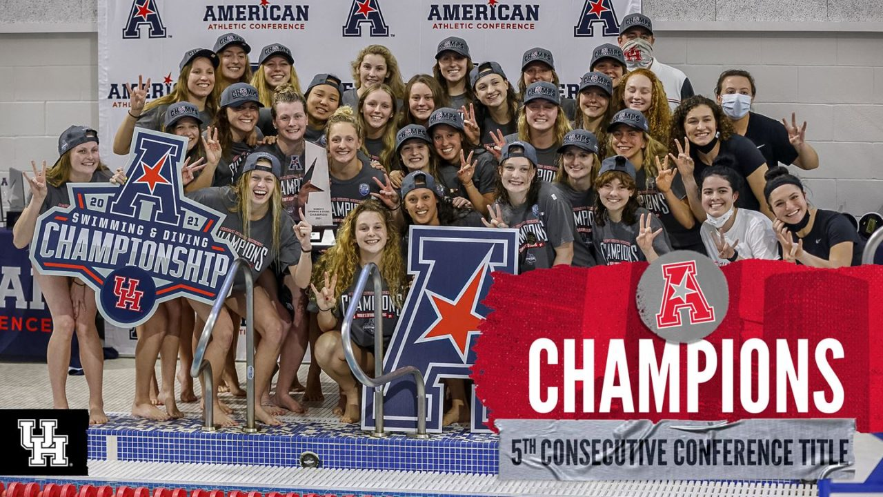 Houston Women Win 5th-Straight AAC Title, SMU Takes Men's AAC Crown