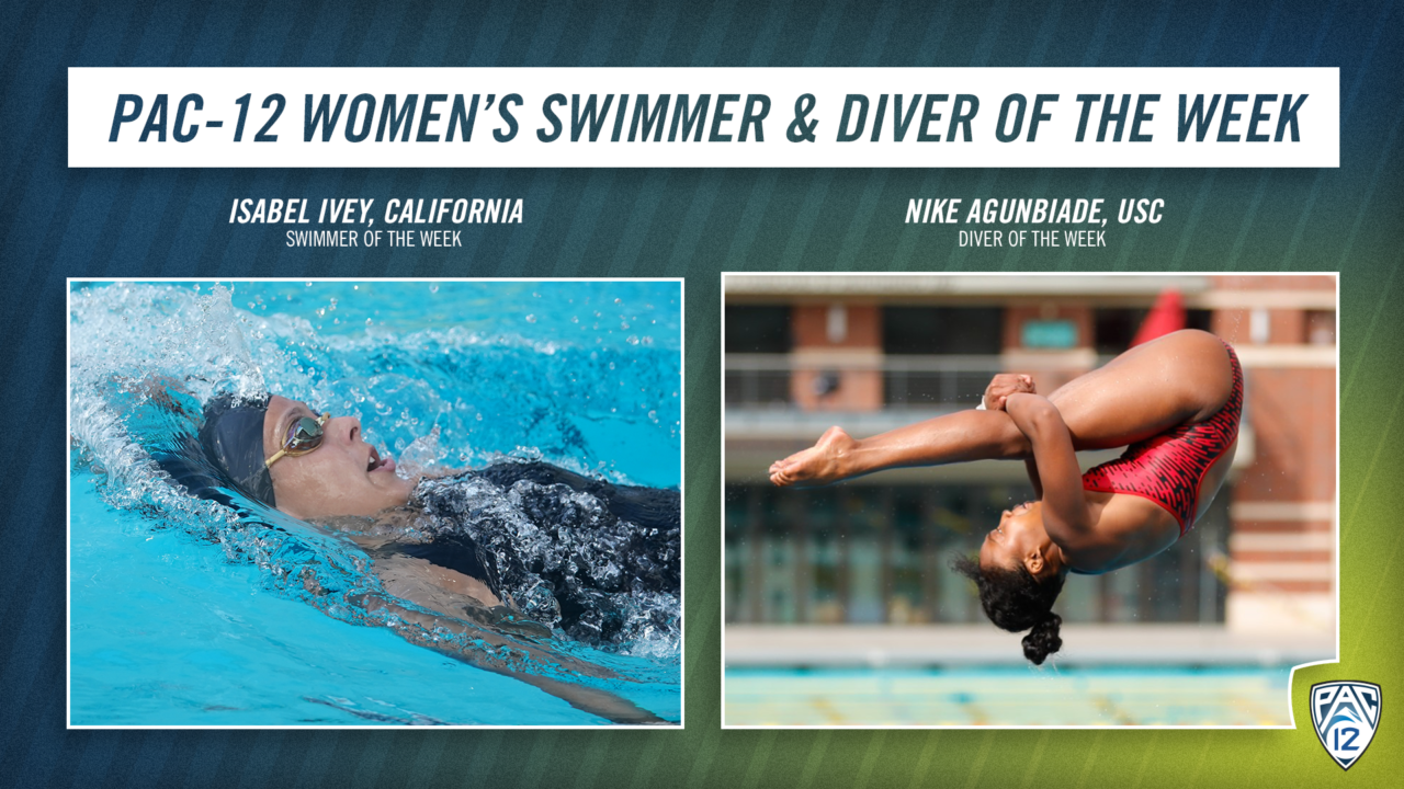 Isabel Ivey, Nike Agunbiade Named Pac-12 Women's Swimmer & Diver of the Week