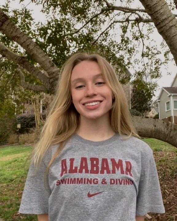 North Carolina 3A 200 IM Champion Alison Thome Verbals to Alabama (2022)