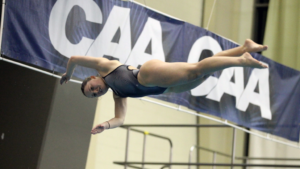UNCW's Bjugan, JMU's Gross Win Gold Medals On Day 1 Of CAA Diving Championship