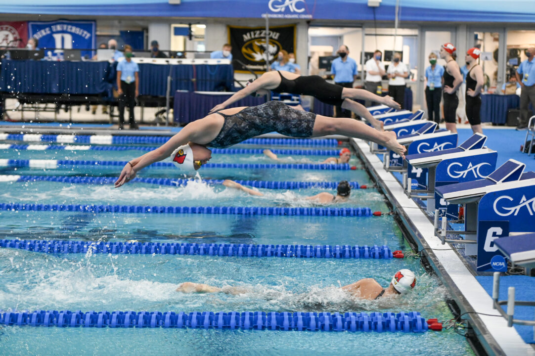 PHOTO VAULT: Day 1 of 2021 Women's NCAA Swimming & Diving Championships
