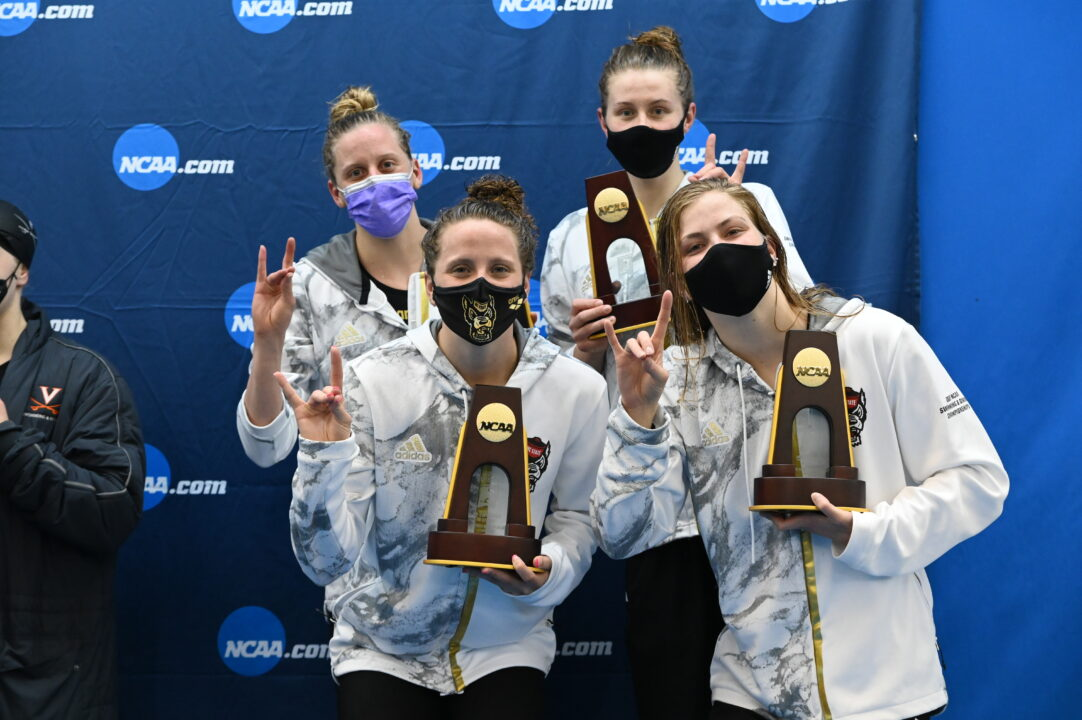 2021 NCAA Women's Championships: NC State 400 Medley Relay Photo Vault
