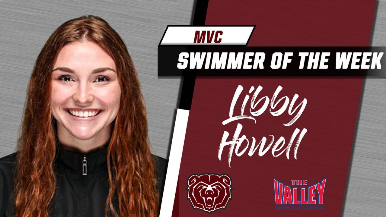 Missouri State's Libby Howell Named MVC Swimmer of the Week