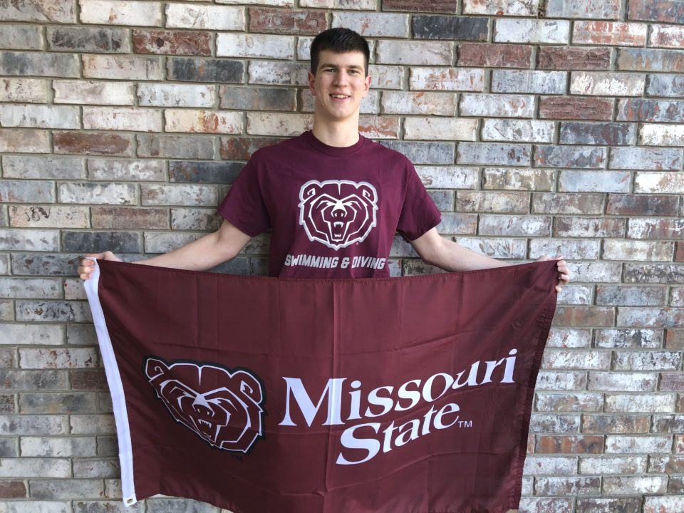 Missouri State Receives Verbal from In-State Breaststroker Drew Watts