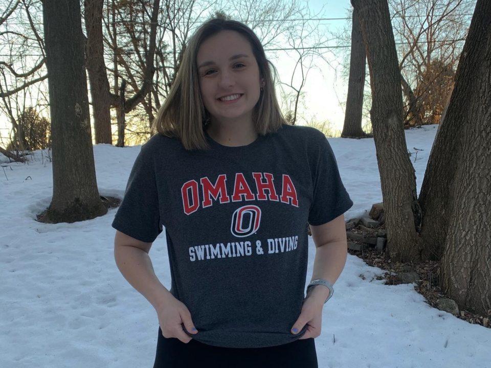 Backstroker Riley Evans Transfers to Nebraska-Omaha