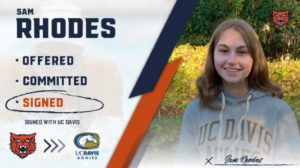 Illinois HS Girls Sectional Champion Samantha Rhodes Commits to UC Davis