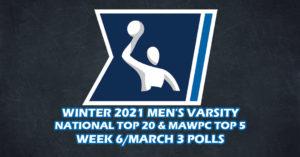 Cal Men Maintain Top Spot In CWPA Week 6 Varsity Polls