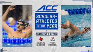 Madden, Albiero Named ACC Swimming & Diving Scholar Athletes of the Year