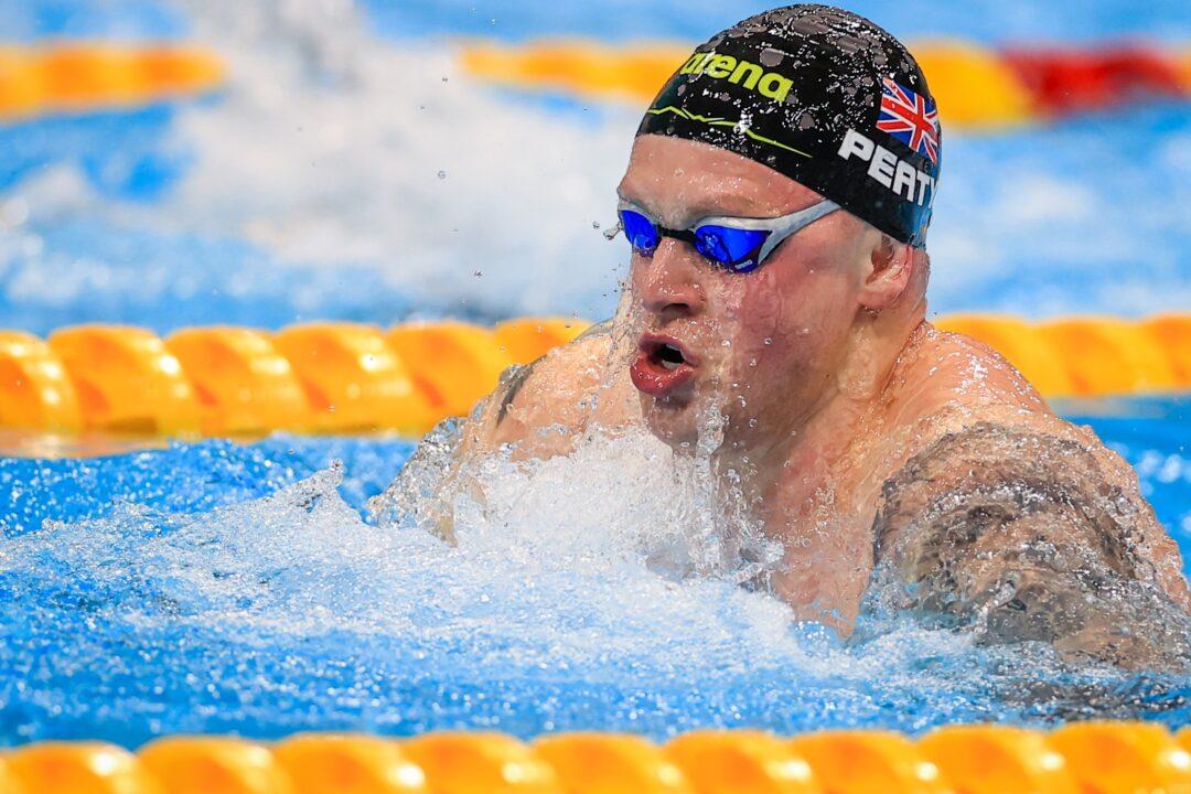 Adam Peaty hace 57.39 en los trials, posee las 20 mejores marcas de la historia