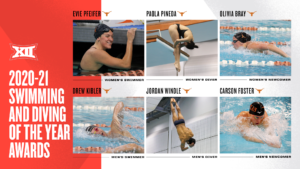 Texas Sweeps Annual Big 12 Swimming & Diving Awards
