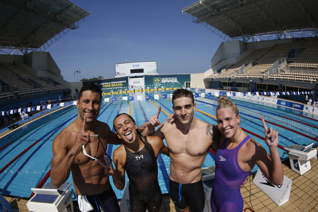 Brazil Breaks South American Record in 4×100 Mixed Medley Relay