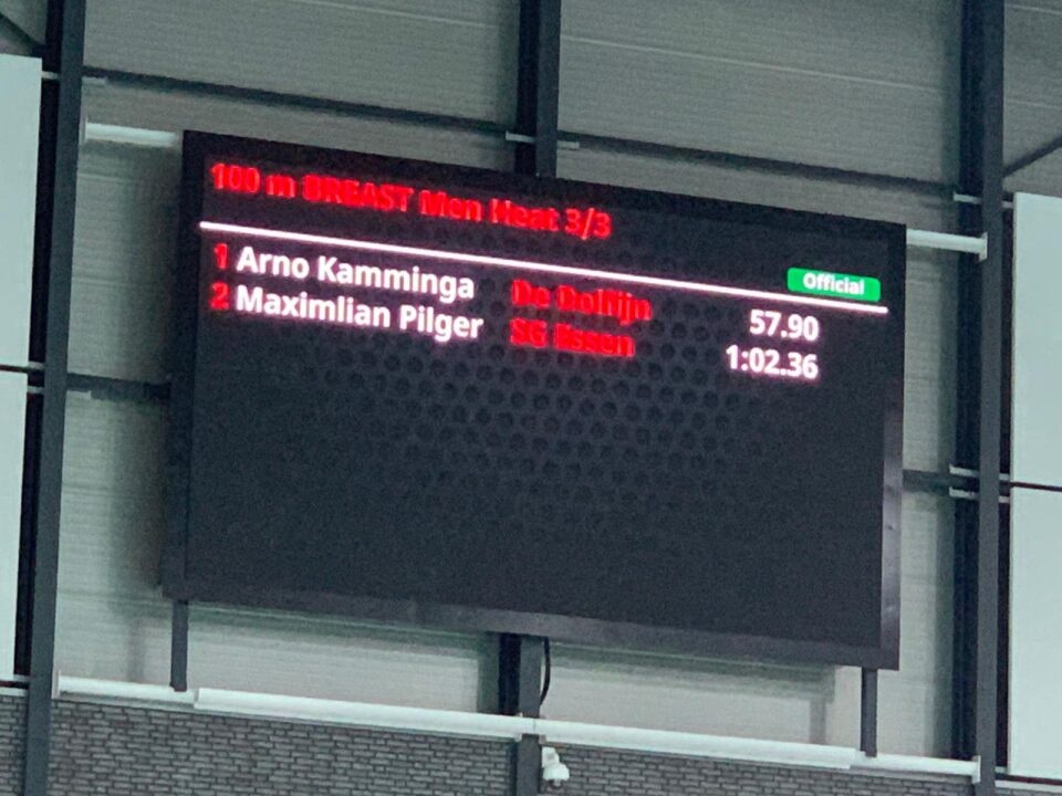 Kamminga Joins Peaty As Only Members of Sub-58 Second 100 Breast Club (Video)