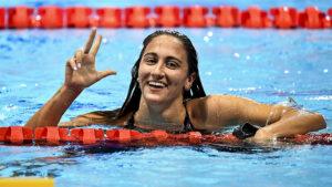 Simona Quadarella Tre Volte Campionessa E' Oro anche Nei 400 Stile