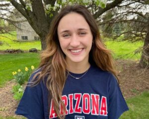 Arizona Wildcats Score Verbal from 1:01/2:16 Breaststroker Eleni Gewalt