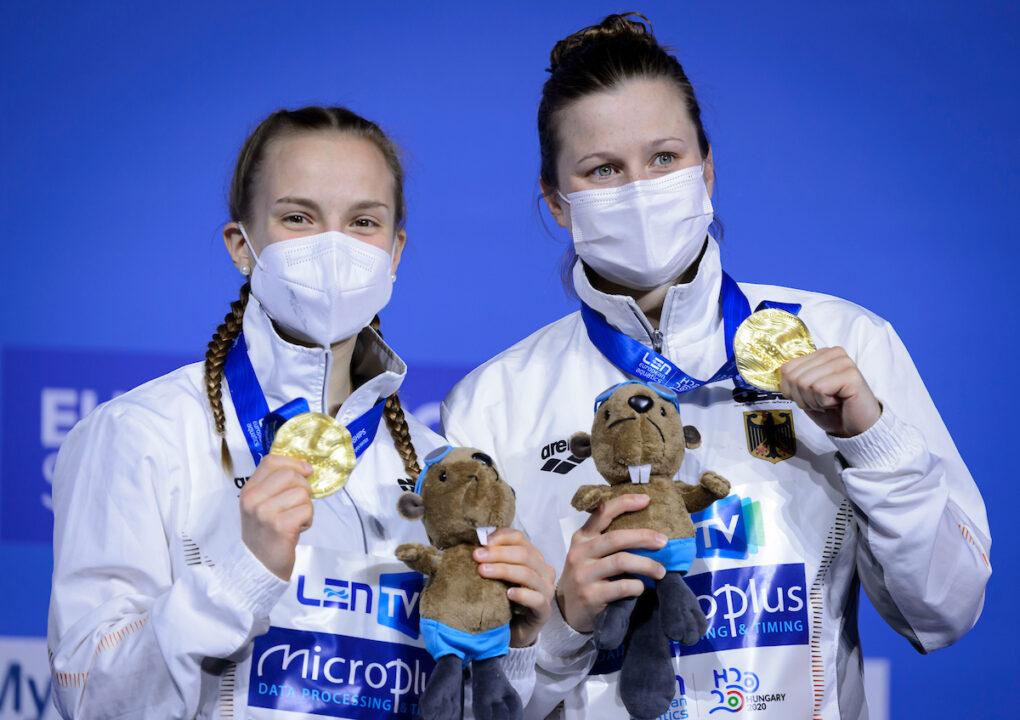 German Women Win by European Championships' Smallest Margin in 10m Synchro