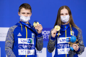 Youngest Duo in the Field, Ukraine's Sereda and Bailo Win 10m Mixed Synchro