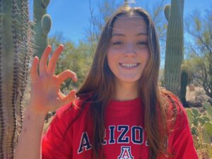 Texas UIL 6A 100 Back Champion Alexis Newman Verbals to Arizona
