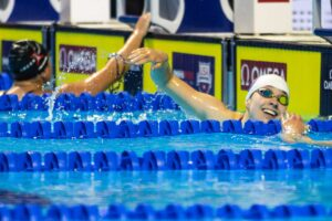 Spink and Moesch Tie for 2nd Place With 25.5 50 Free, #24 All-Time in Age Group