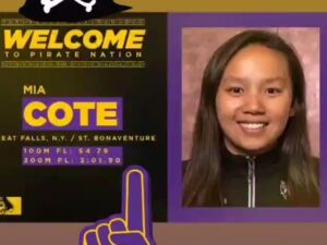 Mia Cote Transferring to ECU with AAC A Final-worthy Times in 100/200 Fly