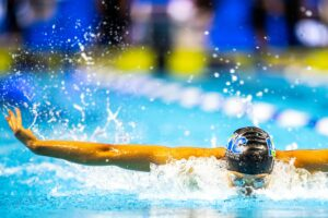 Torri Huske Demolishes American Record with 55.78 100 Fly in Semifinals